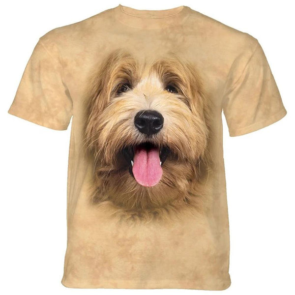 Adult Unisex 3D Short Sleeve T-Shirt Big Face Labradoodle Pup