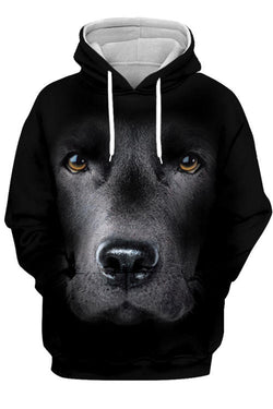 3D Graphic Hoodies  Animals Dogs Labrador Retriever Gaze