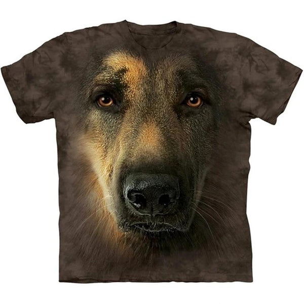 Adult Unisex 3D Short Sleeve T-Shirt German Shepherd Portrait