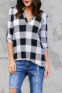 Plaid Long Sleeve Red Shirt