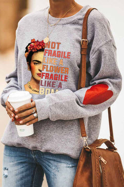 NOT FRAGILE LIKE A Head Fashion Round Neck Shirt