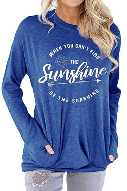 Letter Sunshine Printed Long Sleeve T-shirt