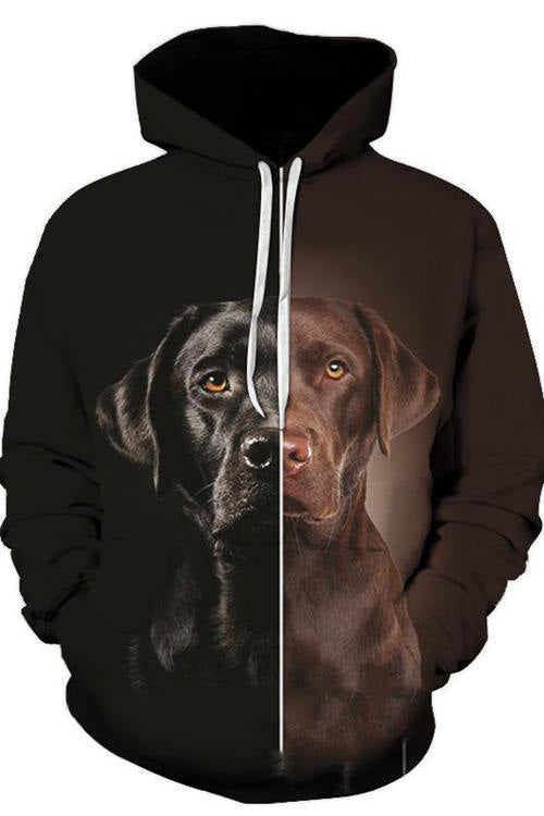 3D Graphic Hoodies Sweatshirts Animals Dog Art Double Sided Labrador