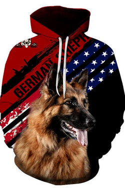 Unisex 3D Graphic Hoodies Sweatshirts Animals Dog Art German Shepherd