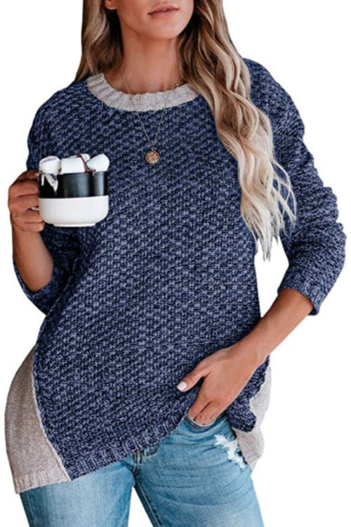 Round Neck Mixed Wool Knitted Sweater