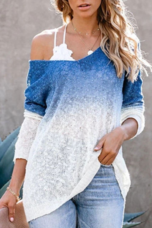 V-Neck Spray Syed Knitted Sweater