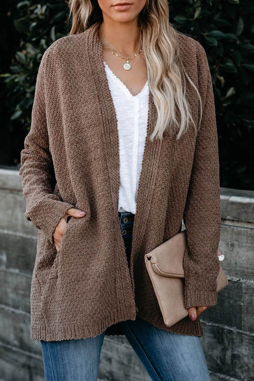 Loose Knitted Sweater Coat
