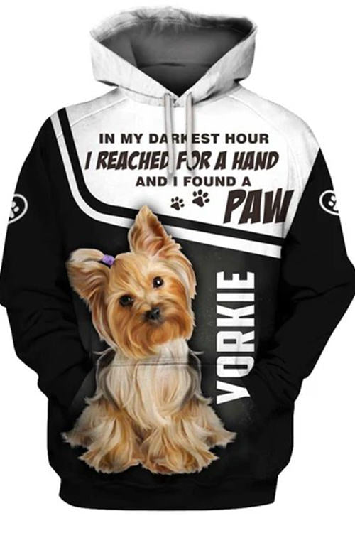 3D Graphic Hoodies  Animals Dogs Yorkie
