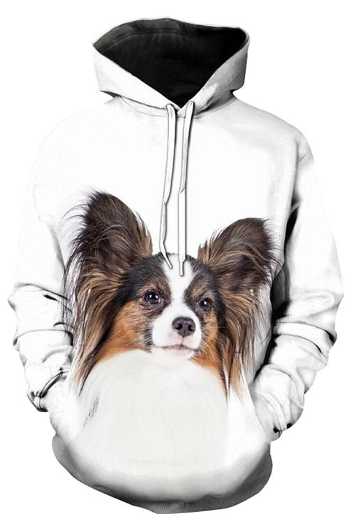 Unisex 3D Graphic Hoodies Animals Dogs Papillon