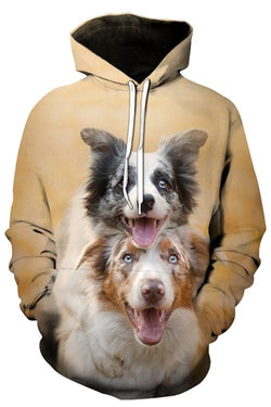 Unisex 3D Graphic Hoodies Animals Dogs Border Collie