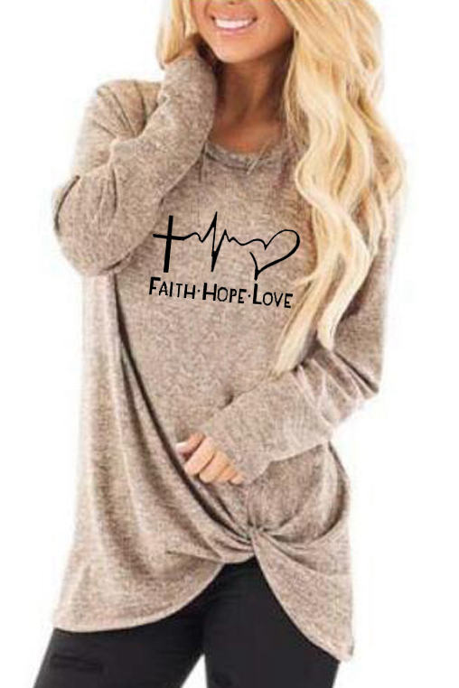 Letter Printed Round Neck T-shirt(5 Colors)