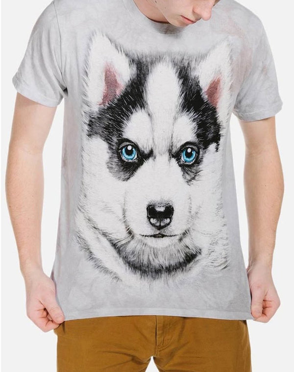 Adult Unisex 3D Short Sleeve T-Shirt Siberian Husky Puppy