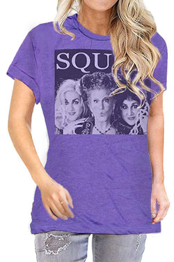 Squad Witch Print  Short Sleeve T-Shirt