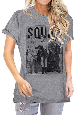 Squad Witch Design Print  Short Sleeve T-Shirt
