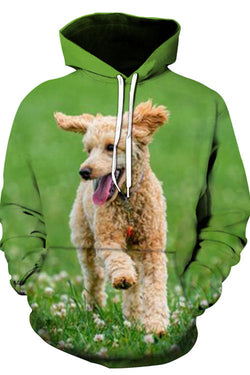 Unisex 3D Graphic Hoodies Animals Dogs Teddy Run