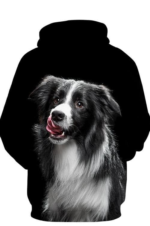 3D Graphic Hoodies Animals Dogs Border Collie Tongue