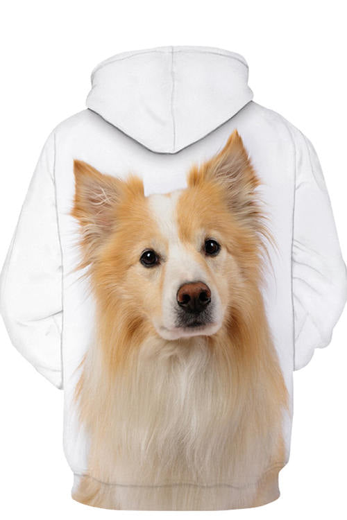 Unisex 3D Graphic Hoodies Animals Dogs Border Collie Yellow