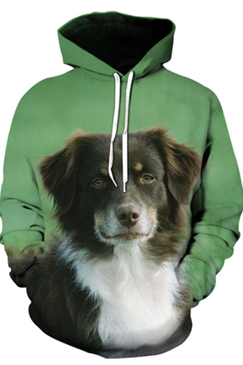 3D Graphic Hoodies Animals Dogs Australian Shepherd