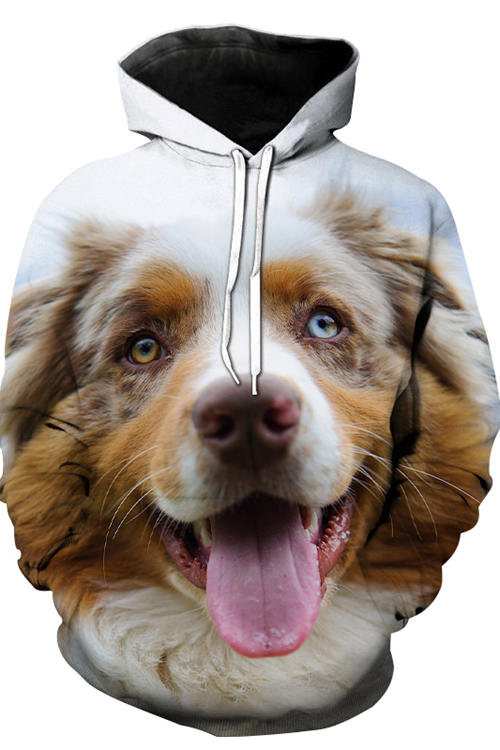3D Graphic Hoodies Animals Dogs Australian Shepherd Lovely