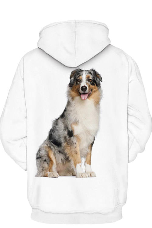 3D Graphic Hoodies Animals Dogs Australian Shepherd Cute
