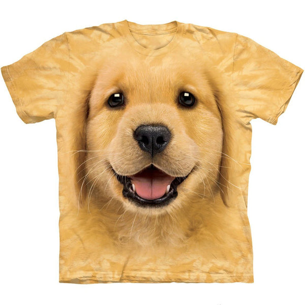 Adult Unisex 3D Short Sleeve T-Shirt Golden Retriever Puppy