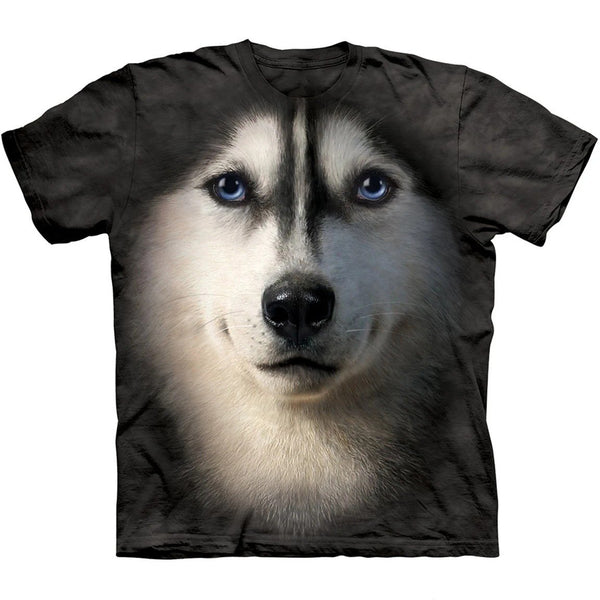 Adult Unisex 3D Short Sleeve T-Shirt Siberian Face