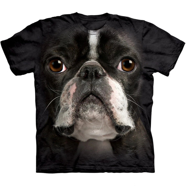 Adult Unisex 3D Short Sleeve T-Shirt Boston Terrier Luv