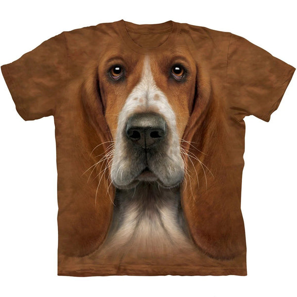 Adult Unisex 3D Short Sleeve T-Shirt Basset Hound