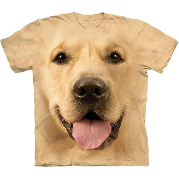 Adult Unisex 3D Short Sleeve T-Shirt Big Face Golden