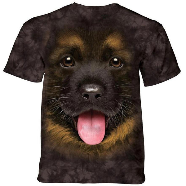 Adult Unisex 3D Short Sleeve T-Shirt Big Face German Shepherd Puppy