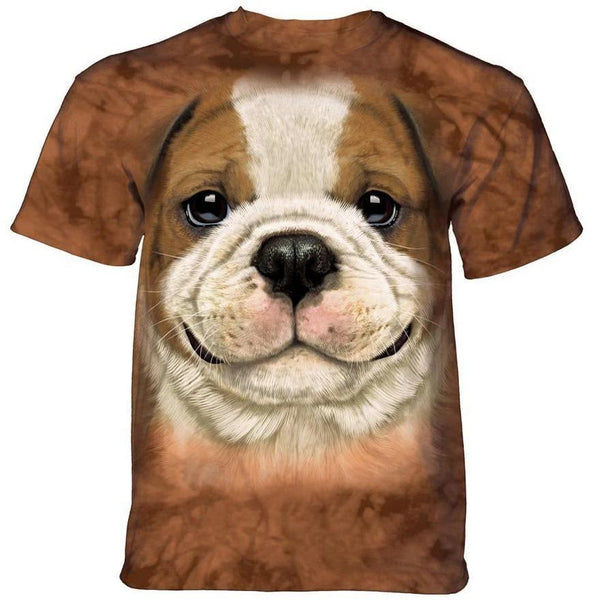Adult Unisex 3D Short Sleeve T-Shirt Big Face Bulldog Puppy