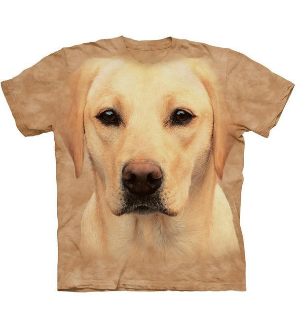 Adult Unisex 3D Short Sleeve T-Shirt Yellow Lab