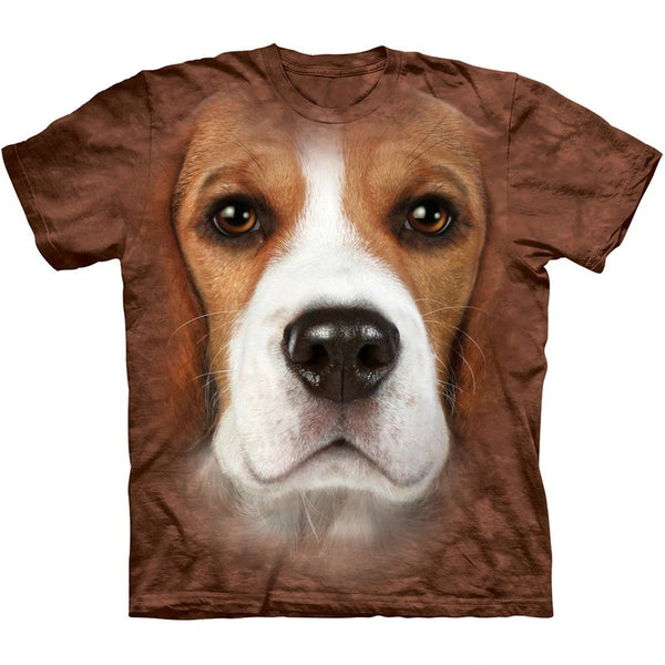 Adult Unisex 3D Short Sleeve T-Shirt Beagle Face