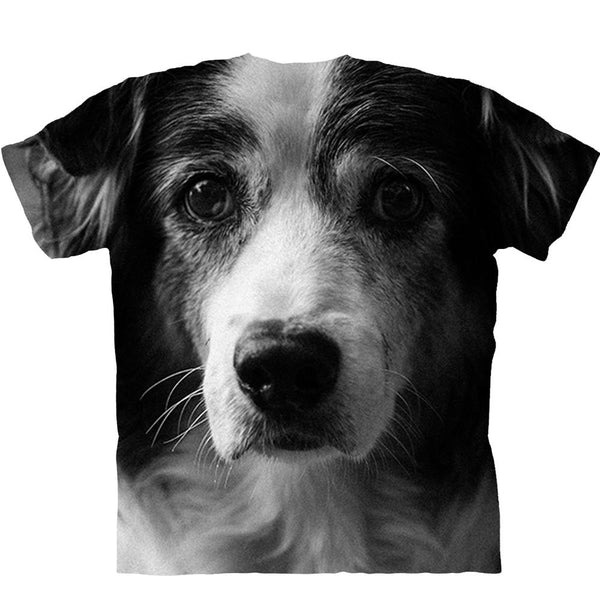Adult Unisex 3D Short Sleeve T-Shirt Clever Border Collie