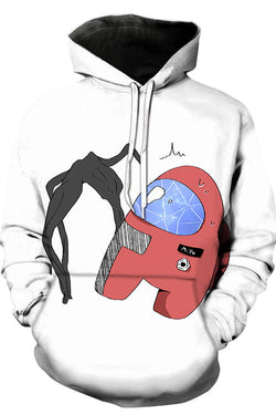 3D Digital Printing Long-Sleeved  Loose Hoodie 2