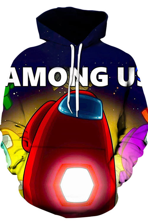 3D Digital Printing Long-Sleeved  Loose Hoodie 4