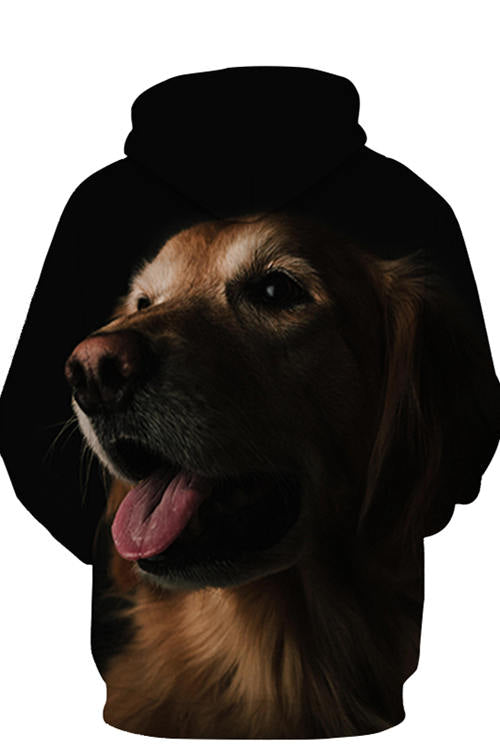 3D Graphic Hoodies Animals Dogs Golden Retriever Silhouette
