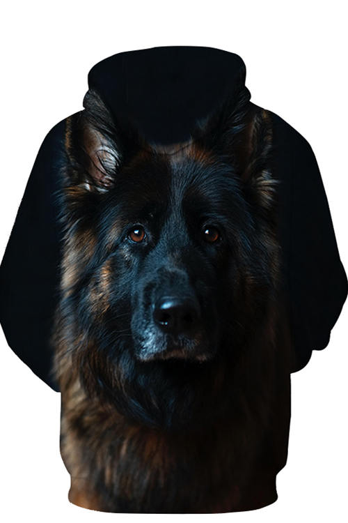 3D Graphic Hoodies Animals Dogs The majestic German Shepherd