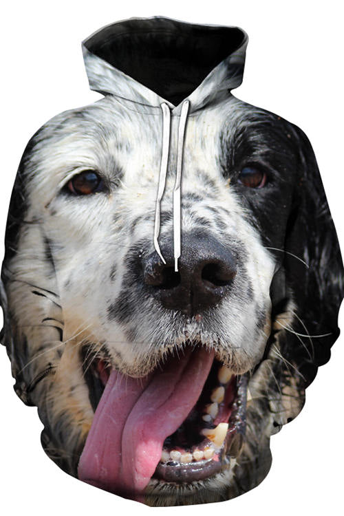 3D Graphic Hoodies Animals Dogs The Clever Collie