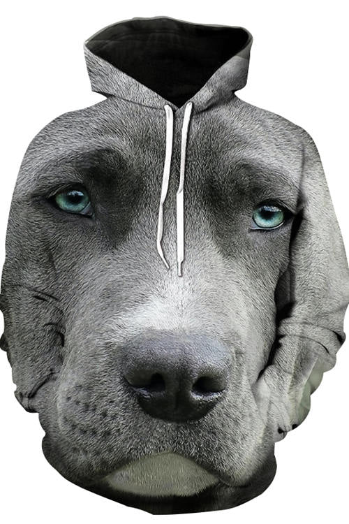 3D Graphic Hoodies Animals Dogs Great Dane's Seriousness