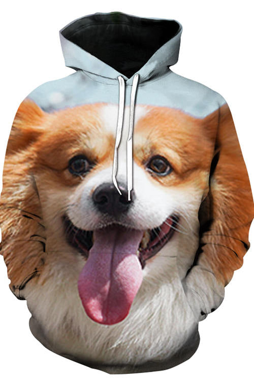 3D Graphic Hoodies Animals Dogs Cockey's Smile