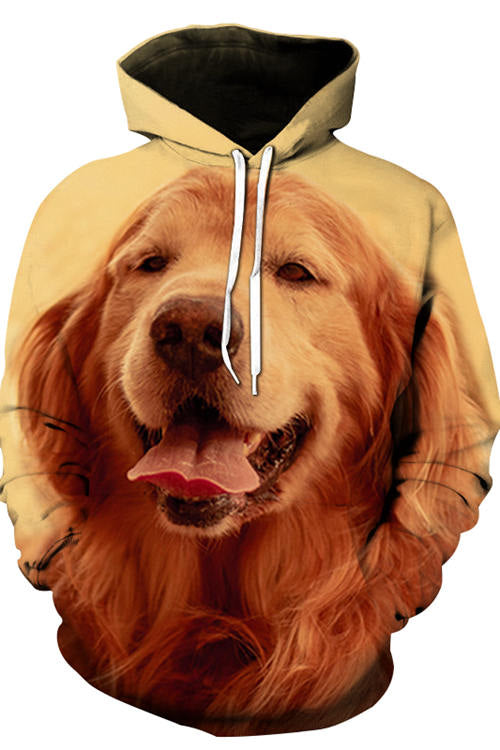 3D Graphic Hoodies Animals Dogs Golden Retriever's Smile