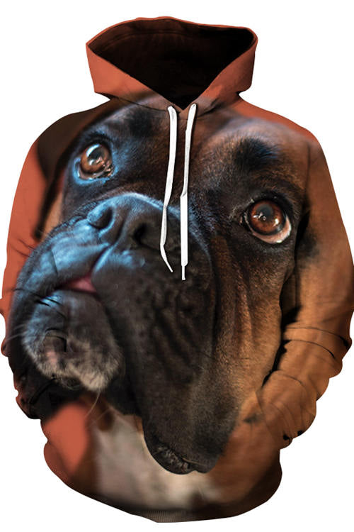 3D Graphic Hoodies Animals Dogs Loyal Boxer Dog