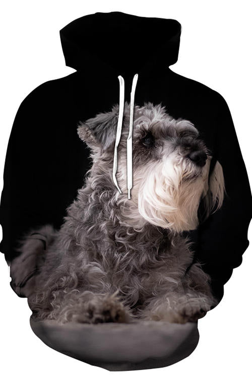 3D Graphic Hoodies Animals Dogs Miniature Schnauzer