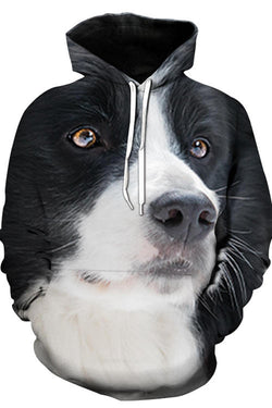 3D Graphic Hoodies Animals Dogs Handsome Border Collie
