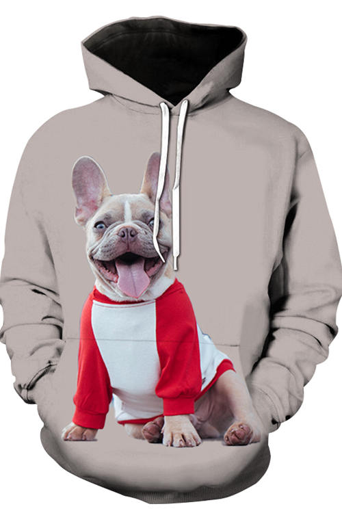 3D Graphic Hoodies Animals Dogs French Bulldog Pass Pleasure