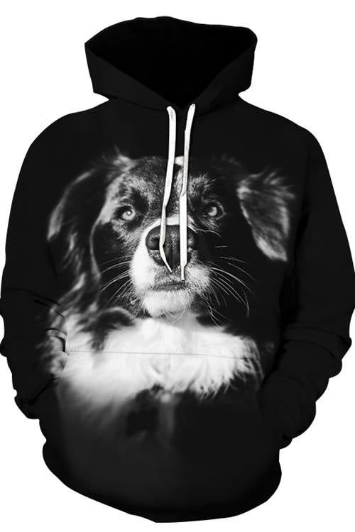3D Graphic Hoodies Animals Dogs  Magnificent Border Collie