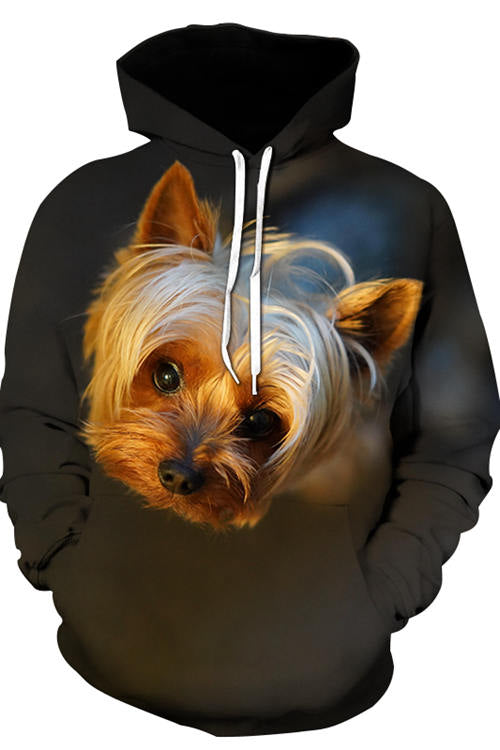 3D Graphic Hoodies Animals Dogs Yorkshire Terrier