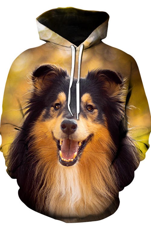 3D Graphic Hoodies Animals Dogs Collie