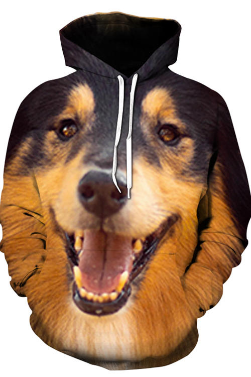 3D Graphic Hoodies Animals Dogs Little Collie